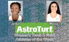 Nova Southeastern's Jordan, Molina Named Women's Track & Field AstroTurf Athletes of the Week