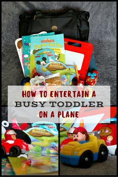 Entertaining a Toddler on a Plane Traveling with a toddler can be tough. Here are all of our tips for entertaining a toddler on a plane! Plus, get a sneak peek into our bag of tricks! Toddler Plane Travel, Toddler Travel Activities, Airplane Activities, Airplane Travel, Travel With Kids, Family Travel, Activities For Kids, Baby Travel, Flying With A Toddler