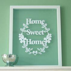 Home Sweet Home Papercut Wall Art