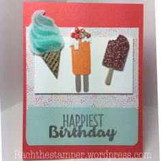 Birthday's blog hop, Stampin' Up! February – Rachthestamper Stampin Up Cool Treats stamp set