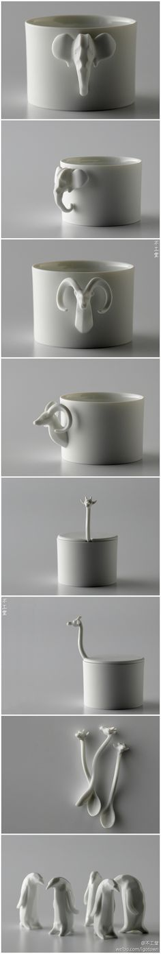 Pinch Pot Animals. Sculpture. Cup. Cute. Awesome. Art.