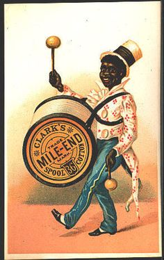 Victorian Trade Card Clark's Mile-End Spool Cotton