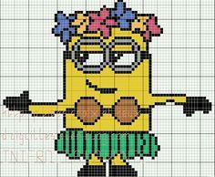 Minion girl cross stitch.