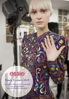 Schiaparelli loves 'allure' this year at the Haute Couture show in Paris! #essie #essie #essie