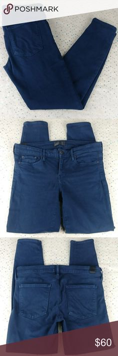 YUNY Men Slim Casual Thermal Non-Iron Pencil Pants with Pockets Navy Blue 30