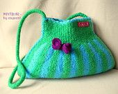Felted crossbody tote SUNRISE crocheted wet felted by cayacat