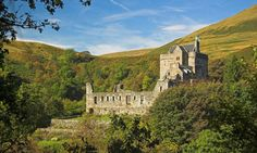 Castle Campbell, Dollar Glen, Scotland | Originally called Castle Gloom, Castle Campbell was built by the Stewart family in the 15th century before passing in marriage to Colin Campbell, whose clan became the leading family of the western Highlands.