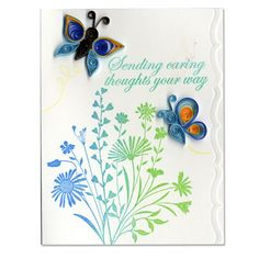 ... » Cards and Invitations » Quilled Butterfly Stamped Sympathy Card