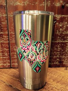 Personalized Monogram Decal Sticker Made To Order Personalized - Vinyl letters for cups