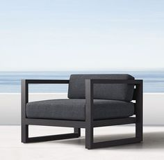 """Aegean Aluminum Lounge Chair      Overall: 34""""W x 33½""""D x 24½""""H     Seat: 9½""""H"""