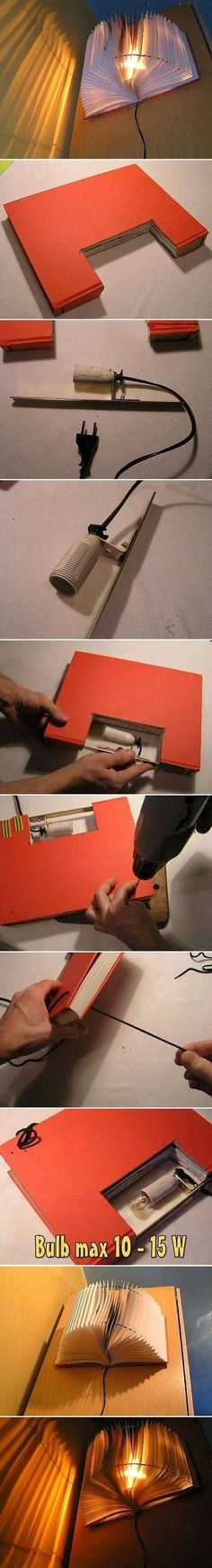 Use a thicker book, 300 to 400 pages and string that is closer to the color of the book pages.