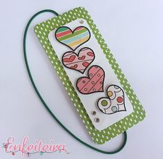 this bookmark could be used for a simple card