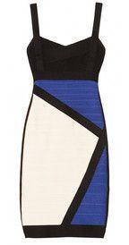 Hervé LégerColor-block bandage dress