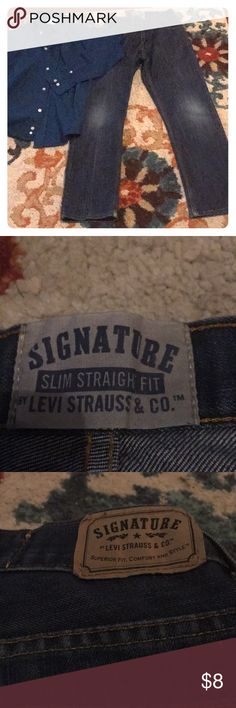 ba28ac9bb039 Shop Kids  Signature by Levi Strauss Blue size Jeans at a discounted price  at Poshmark. Sold by Fast delivery