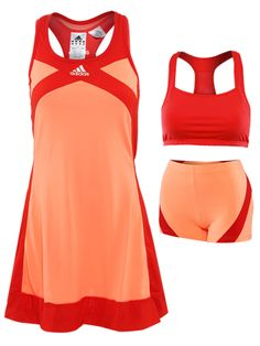 Adidas Orange Tennis Dress.