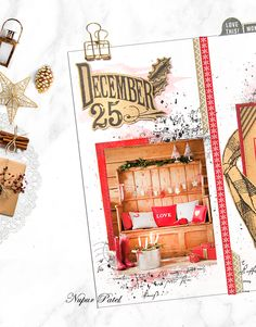 December planner, journal, and album. Vintage Christmas theme. Canvas Corp Brands.