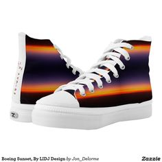 Boeing Sunset, By LIDJ Design Printed Shoes