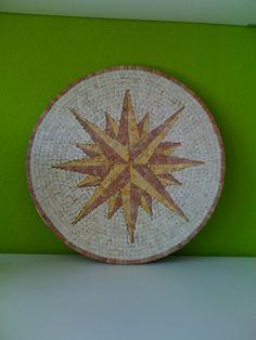 Mosaic Rosone, mosaic star Marble Biwi's Stern by Ursula Huber