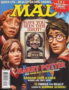 MAD Magazine. Harry Potter Cover.