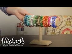 How to Make a Stretch Cord Bracelet, Jewelry & Accessory Ideas, Michaels, My Crafts and DIY Projects