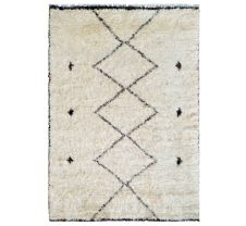 "Moroccan Collection Lamb's Wool Cream Rug 8'11"" x 12'"