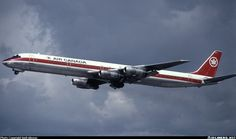 Air Canada McDonnell Douglas DC-8-61 aircraft. Cool old pic, the DC-8s were cool old planes.