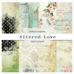 Altered Love Paper Pack by Antique Paperie on Creative Market