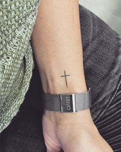 tattoos for women meaningful Cross Tattoo On Wrist, Small Cross Tattoos, Simple Cross Tattoo, Cross Tattoos For Women, Faith Tattoo On Wrist, Meaningful Tattoos For Women, Tattoos For Women Small, Forearm Tattoos, Body Art Tattoos