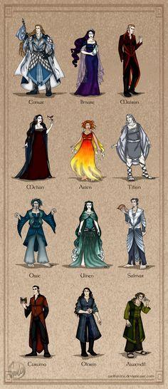 The Valar & The Maiar from The Silmarillion Fan Art