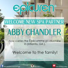 Abby Chandler Spa now carries Epicuren® products in Atlanta GA! Welcome to the Family!