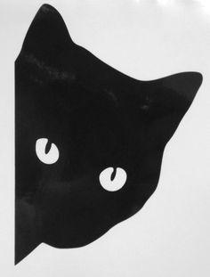 Cat Silhouette Face Pet Animal Car Window Vinyl Decal Sticker Choose 10 Colors #StickerstoGo