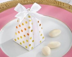 Confetti Style Gold Dot Favor Box (Set Of 24)