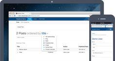 KeystoneJS is an open source Node.js CMS and web application platform built on Express and MongoDB.
