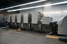 Installation process of Komori printer.