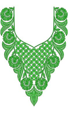 This Design Also used as Punjabi Dress Neck Designs, This is Dress Styles for Women. Embroidery Neck Designs, Embroidery Suits Design, Hand Work Embroidery, Hand Embroidery Patterns, Cross Stitch Embroidery, Machine Embroidery, Dress Neck Designs, Neck Pattern, Crochet Fashion