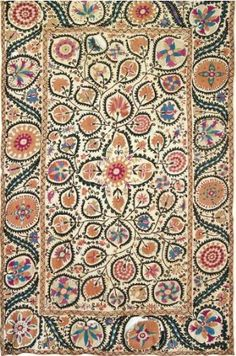 A Susani Dowry Coverlet, Central Asia, Bokhara, 19th Century    Christie's, Art and Textiles of the Islamic and Indian World, London, Oct 7th