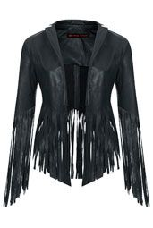 Fringed Leather Jacket by Kate Moss for Topshop