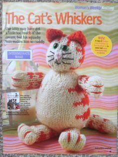 Toy Cat ~ Knitting Pattern