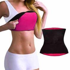 14f9de6f16a48 Hot Body Shapers Neoprene Shaper Sweat Body Shaper Waist Trainer Slimming  Belt Waist Corsets Tummy Fat Burner Girdles for Women