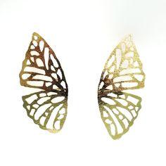 Aretes artesanales Butterfly, Stud Earrings, Women, Butterflies