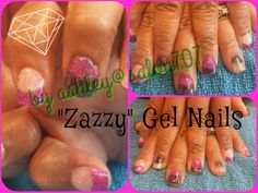 "Gel nails by ashley @salon707 #""zazzy"""