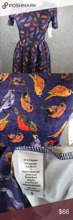 LuLaRoe Amelia dress with pockets S bnwt birds LuLaRoe Amelia dress with pockets S bnwt birds LuLaRoe Dresses