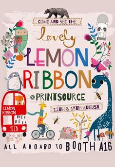 Come and see Lemon Ribbon at Printsource :) Illustration Design Graphique, Graphic Illustration, Book Design, Cover Design, Baby Posters, Postcard Art, Sketchbook Inspiration, Kids Prints, Illustrations Posters
