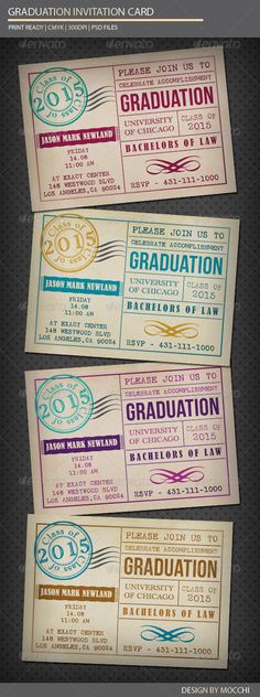 Graduation Invitation Card Template PSD | Buy and Download: http://graphicriver.net/item/graduation-invitation-card/2717978?WT.ac=category_thumb&WT.z_author=MOCCHI&ref=ksioks