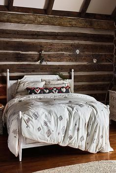 Anthropologie Embroidered Palermo Duvet and 2 King Shams - NWT #Anthropologie