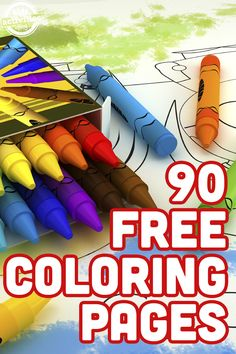 90 Free Coloring Pages! These coloring pages for kids are the perfect boredom buster. All you have to do is head to your computer, download and print a few, and your kids have a new collection of coloring pages!
