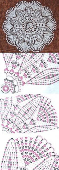 32 Ideas crochet lace motif charts ganchillo for 2019 Crochet Doily Diagram, Crochet Mandala Pattern, Crochet Chart, Thread Crochet, Easy Crochet, Crochet Stitches, Crochet Tablecloth Pattern, Crochet Dollies, Crochet Lace