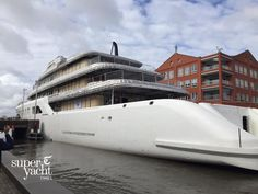 Another view of the 92m @feadship #superyacht project 695 passing through Alphen aan den Rijn.