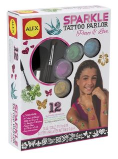My teen daughter LOVED this #sparkle #glitter #tattoo kit she got for Christmas.  Everyone in the whole house had a sparkle glitter tattoo, even dad!