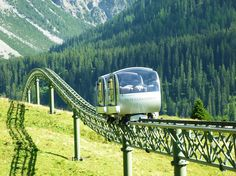 It's no Hogwart's Express, but I'd like it anyway: The shuttle train to Tschuggen Grand Hotel, Arosa, Switzerland